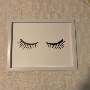 Hobby Lobby Home Accent Wall Art 13x17 Eyelashes